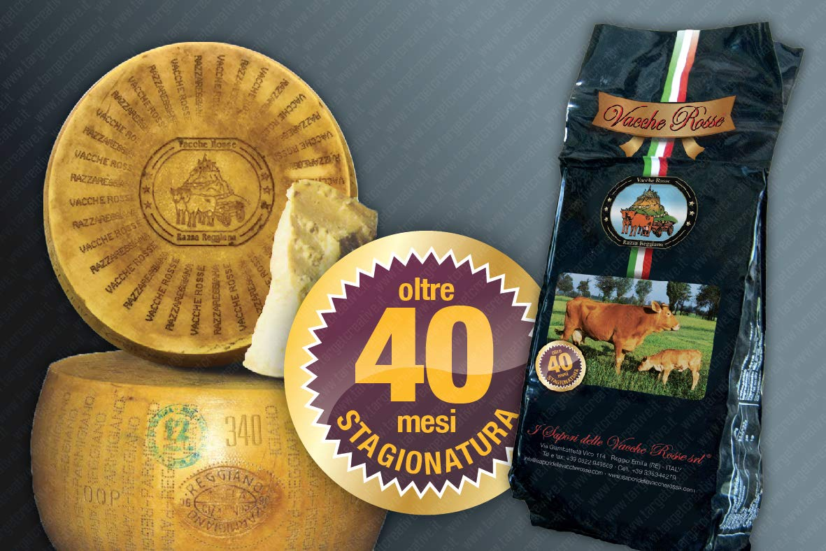 I Sapori Delle Vacche Rosse - Parmigiano Reggiano Cheese Vacche Rosse - Over 40 Months''RISERVA'' (1 kg) by YesEatIs (Image #1)