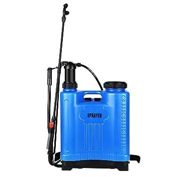 FIXKIT Pulverizador de Mochila Manual a Presión con Lanza de Jardinería Fumigador Pulverizador de Agua para