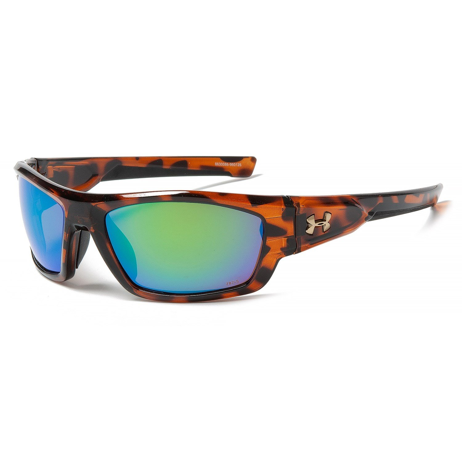Under Armour UA Force Sunglasses (Crystal Tortoise/Copper/Green, M/L)