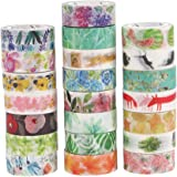 Molshine Set of 22 Decorative Japanese Washi Masking Adhesive Tape – Seasons Flowers Series - Collection, (15mm x 7m, 0.59 inch x 7.6 yards) for DIY (WCL07)