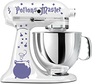 Potions Master Wizard Cauldron Lavender Vinyl Decal Set Stand Mixer Witches Wicca Mage