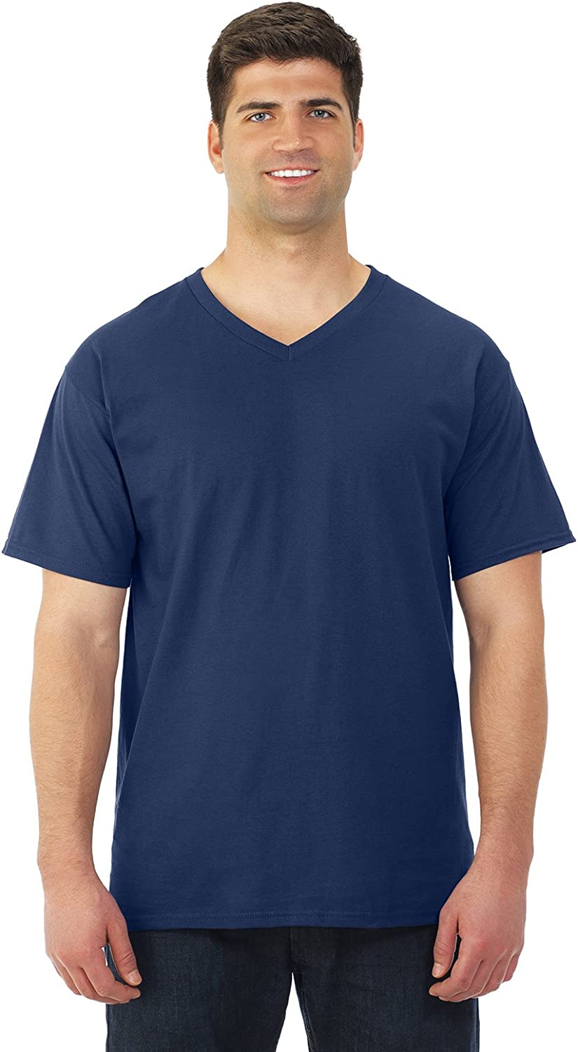Fruit of the Loom - HD Cotton V-Neck T-Shirt - 39VR