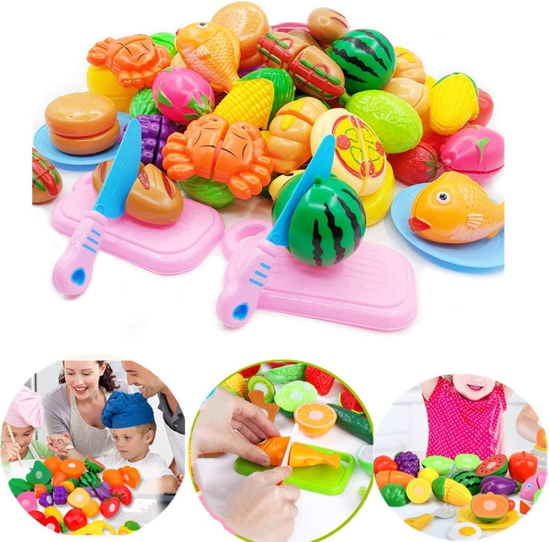 HFZXM 36 Pcs Children's Kitchen Play Toys Food Cut Simulation Fruit,Gift for Children