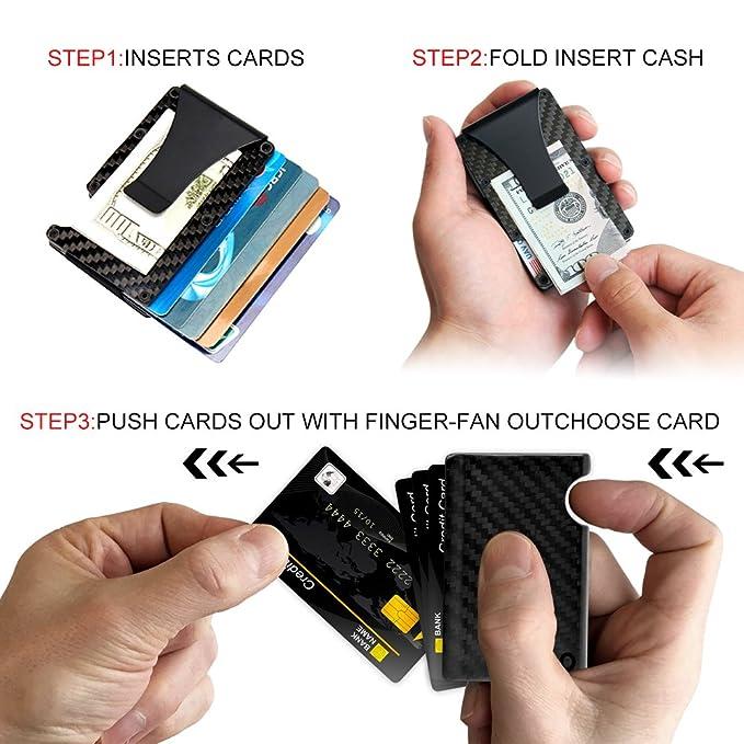 d9a0813f283e Amazon.com: Vankcp Credit Card Holder,Minimalist Business Carbon ...