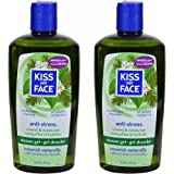 Kiss My Face Anti-Stress Shower Gel Bath and Body Wash, 16 Ounce, 2 Count