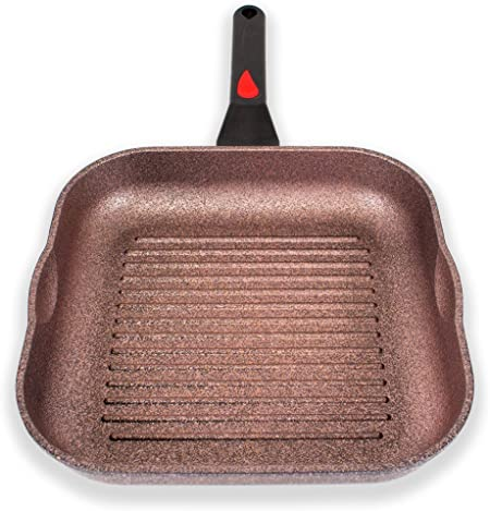 Alpha Square Grill Pan Made in Korea 11 Inch with Deep ridges and Induction ready, iNoble Non-Stick Cookware Dishwasher Safe, Coated 10 layer total with 6 layers of iNoble Coating PFOA Free