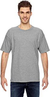 product image for Bayside Men's Heavyweight Shoulder Tape Union Made T-Shirt, DARK ASH, Small