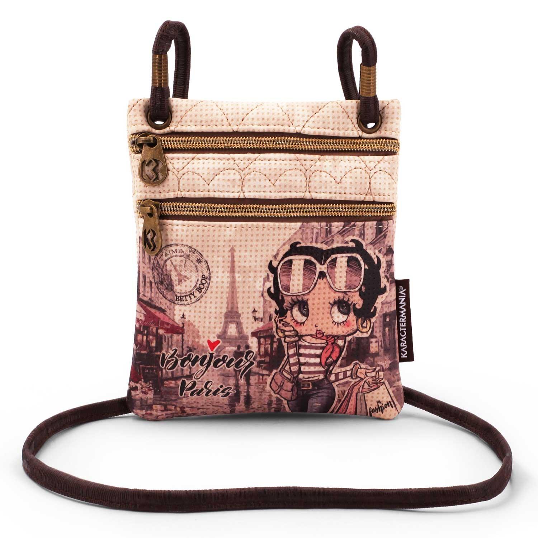 Karactermania Betty Boop Streets-Action Mini Vertical Shoulder Bag Sac bandouli/ère Beige 17 cm