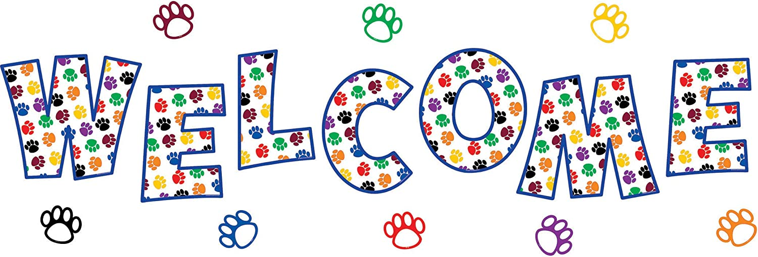 Teacher Created Resources 5439 Paw Prints Welcome Bulletin Board