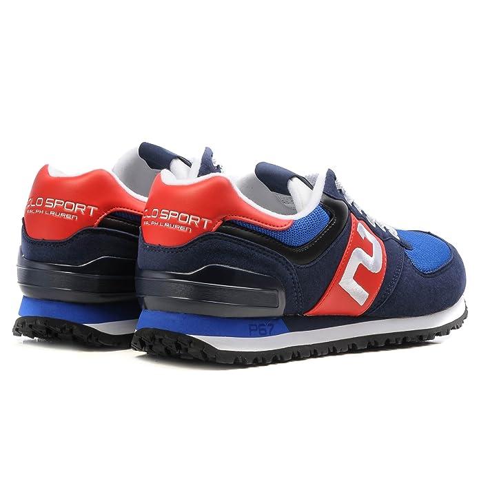Ralph Lauren Sneaker Slaton Newport Navy - Bleu - Navy AF, 41 EU EU   Amazon.fr  Chaussures et Sacs 6a37977607ea