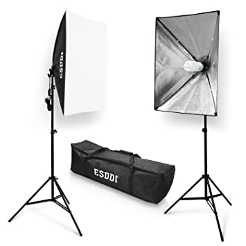 ESDDI 20u0026quot;X28u0026quot; Soft Box Photography Lighting Kit 800W Continuous Lighting System Photo Studio  sc 1 st  Amazon.com & Amazon.com : ESDDI 20