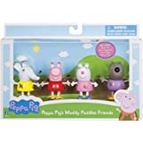 Peppa Pig 92648 Muddy Puddles Friends 4 Pack Toy Figure