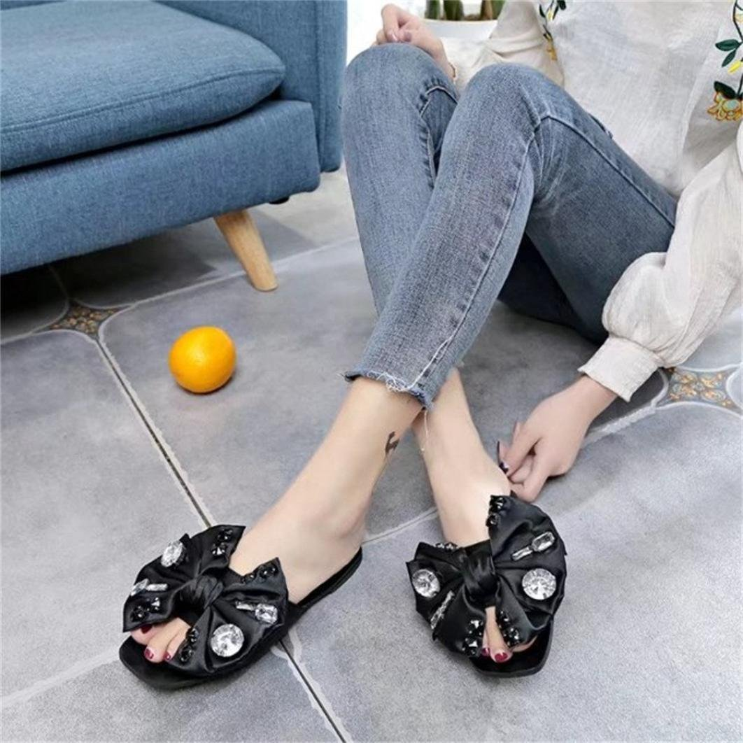 6c76168fd DENER Women Girls Ladies Summer Flat Slippers Moccasins