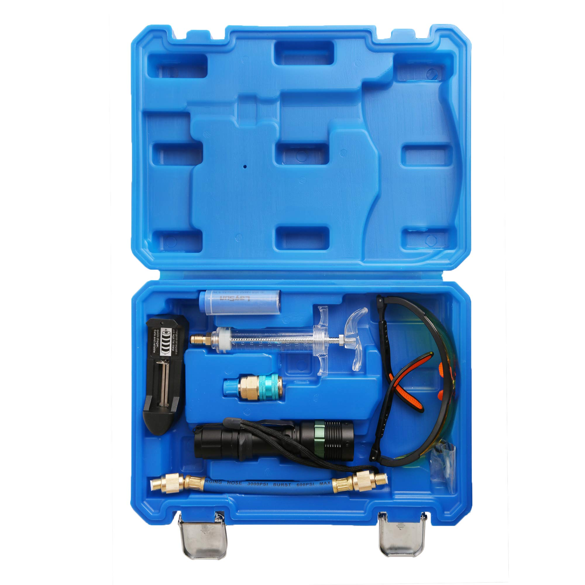 WINTOOLS 3W UV Leak Detector Led Lamp Set Rechargeable Battery Air Con Engine Gearbox Set by WINTOOLS (Image #1)