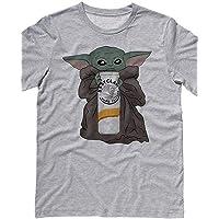 Baby Yoda Baby Claw Shirt Unisex (S, M, L) (Gray, Pink, White)-White Tshirts For Women-Black Shirts For Men-Black Shirt-V Neck T Shirts Women