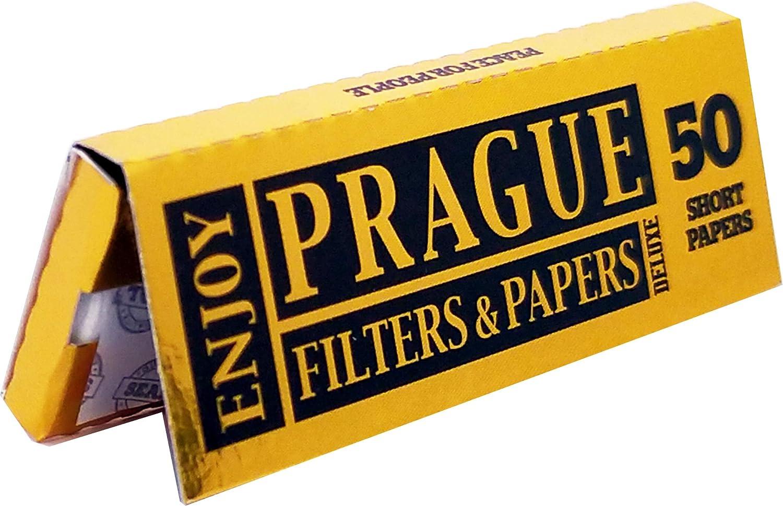Prague Gold Ungebleichte Papers Short 50 Box Zigarettenpapier Natürlichen Materialien 100 Drogerie Körperpflege