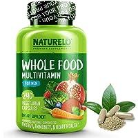 NATURELO Whole Food Multivitamin for Men - Natural Vitamins, Minerals, Antioxidants, Organic Extracts - Vegan/Vegetarian…