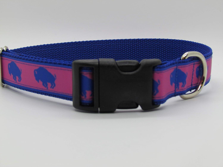 Doggie Stylz Pink Buffaloes Dog Collar