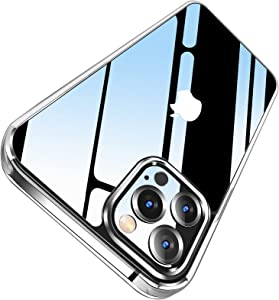 LETSCOM Crystal Clear Case Compatible with iPhone 12 Pro Max, Anti-Yellowing, Corner Shockproof, Military Grade Protection Phone Case – Clear