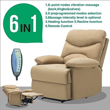 Amazon Com Microfiber Massage Recliner Sofa Chair Ergonomic Lounge