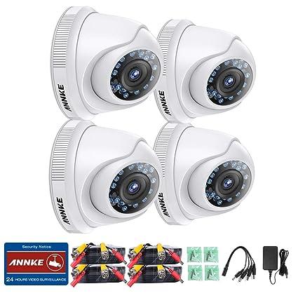 ANNKE 1080P HD 4 Cámara de vigilancia seguridad Domo Lente 3.6mm IR-cut Visión