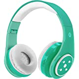 Kids Wireless Bluetooth Headphones Volume Limited 85db Stereo Sound Over-Ear Foldable Lightweight Children Headphones with Mic SD Card Slot up to 6-8 Hours Play time for Boys Girls Adults (Green)