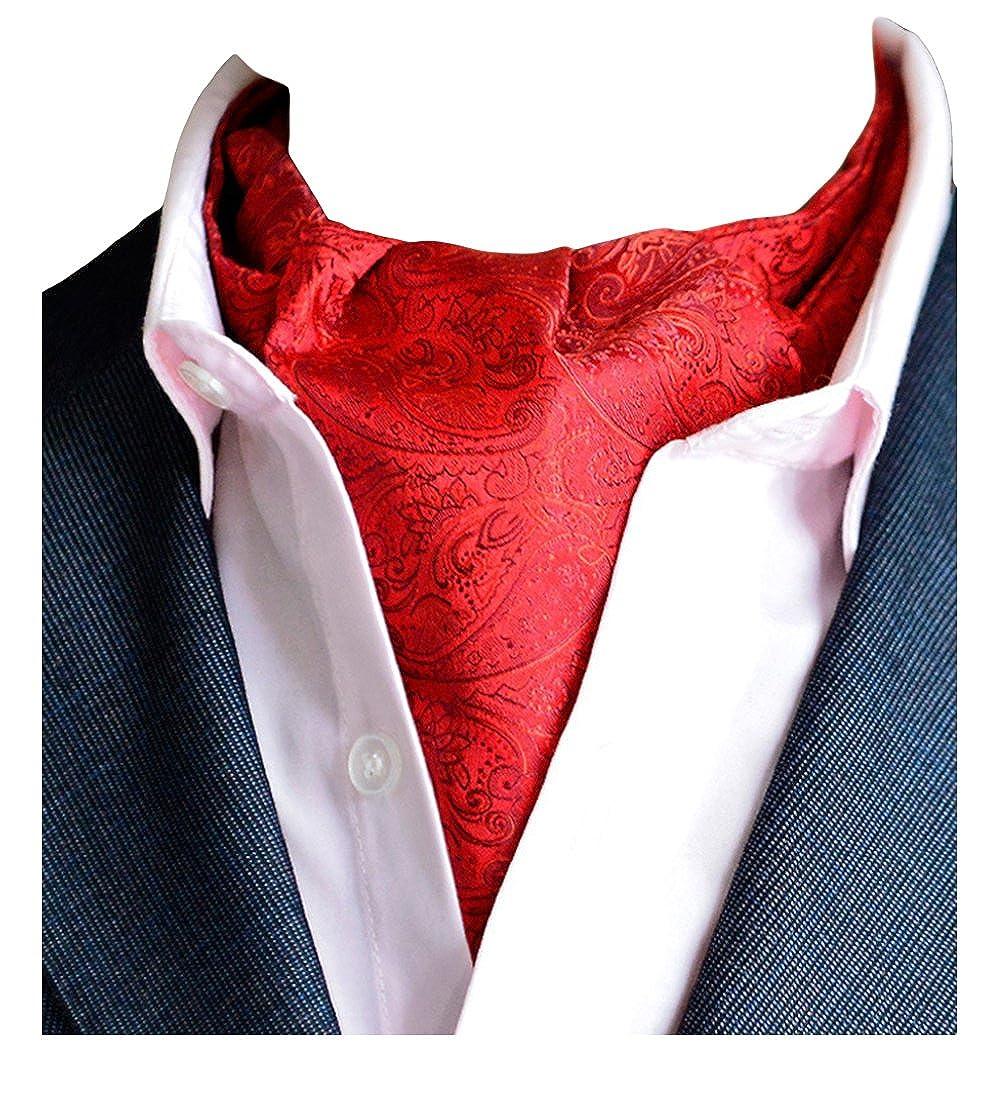 MENDENG Men's Paisley Jacquard Woven 100% Silk Cravat Party Necktie Formal Ascot END0910153