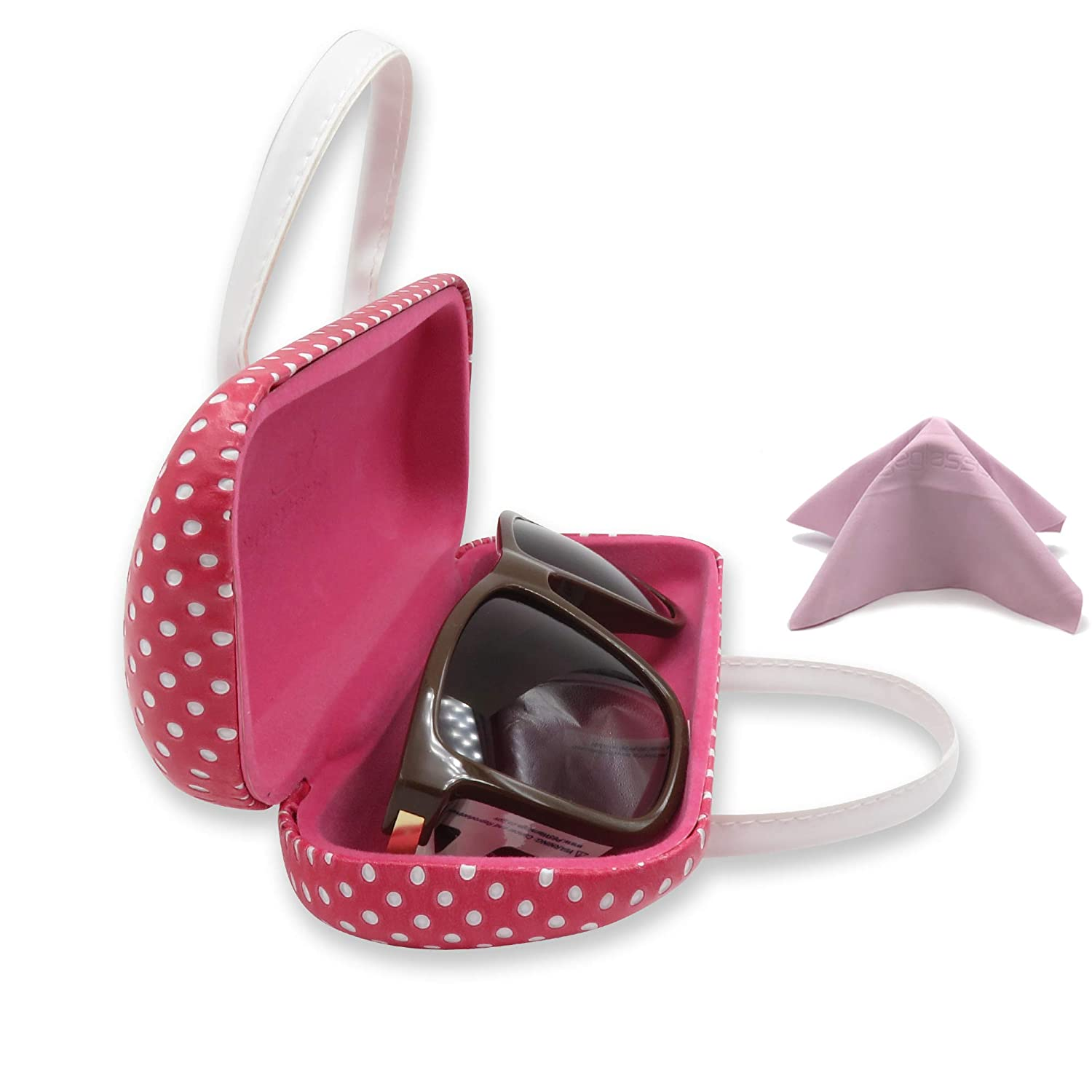 Minibag Eyeglass Case /& Sunglasses Case Protects Medium to Large Frames