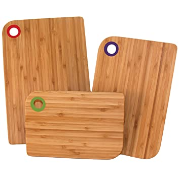Amazoncom Totally Bamboo 20 1729 Colors Cutting Board Set 3 Piece