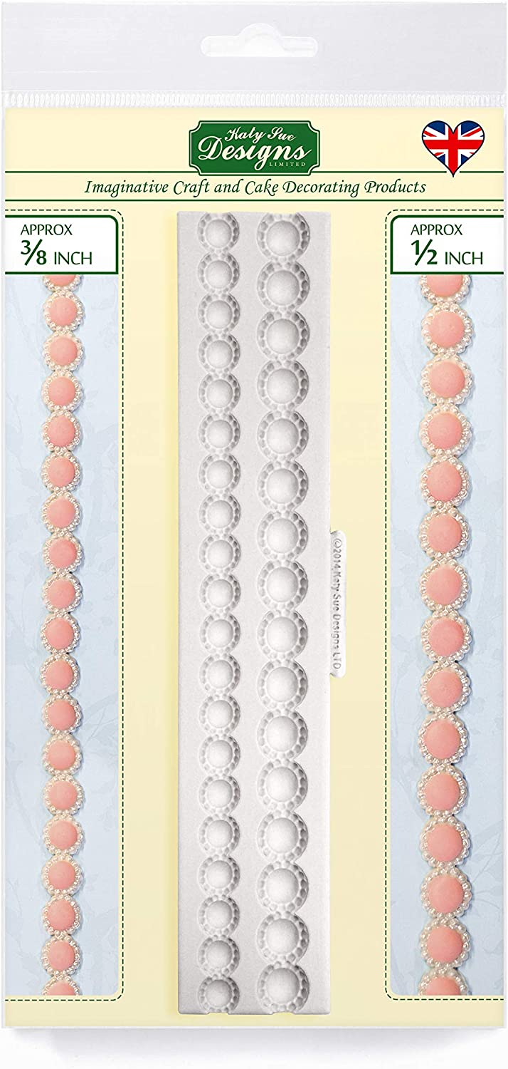 Beaded Pearl Border Silicone Mold for Decorating, Sugarpaste, Candies and Clay, Food Safe