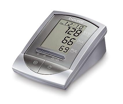 Beurer BM 16 WHO - Tensiómetro automático de brazo, indicador OMS, gran pantal LCD