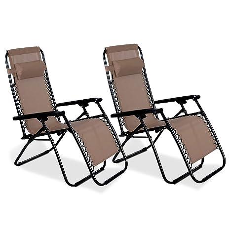 BRAVICH - Juego de 2 sillas reclinables reclinables de ...