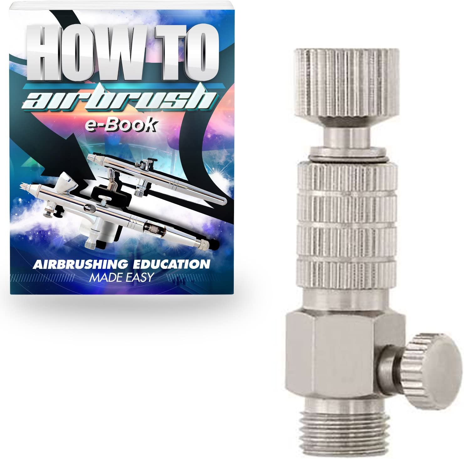 """AIRBRUSH QUICK Release DISCONNECT COUPLER 1//8/"""" MAC Air Flow Adjustment Control"""
