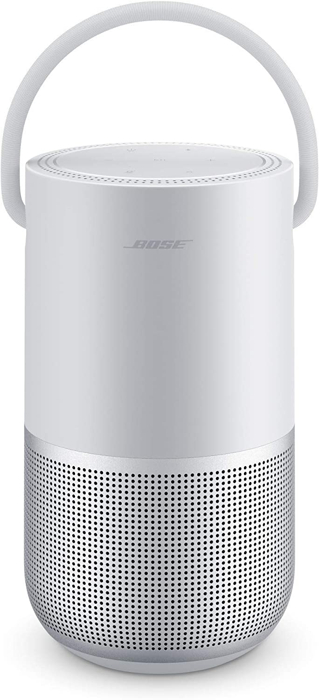 Bose Portable Smart Speaker - Altavoz portátil con control de voz Alexa integrado, Color Plata