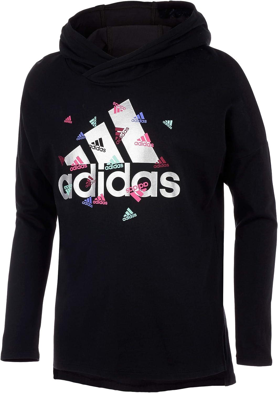 adidas Girls' Long Sleeve Hooded Tee T-Shirt