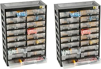 2 x Organizador Caja para organizar objetos pequeños Vario Plus basic 47 Allit 458100: Amazon.es: Bricolaje y herramientas