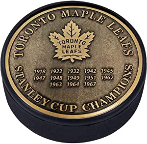 Mustang Product Toronto Maple Leafs 3D Textured Gold Plated Stanley Cup Medallion Hockey Puck