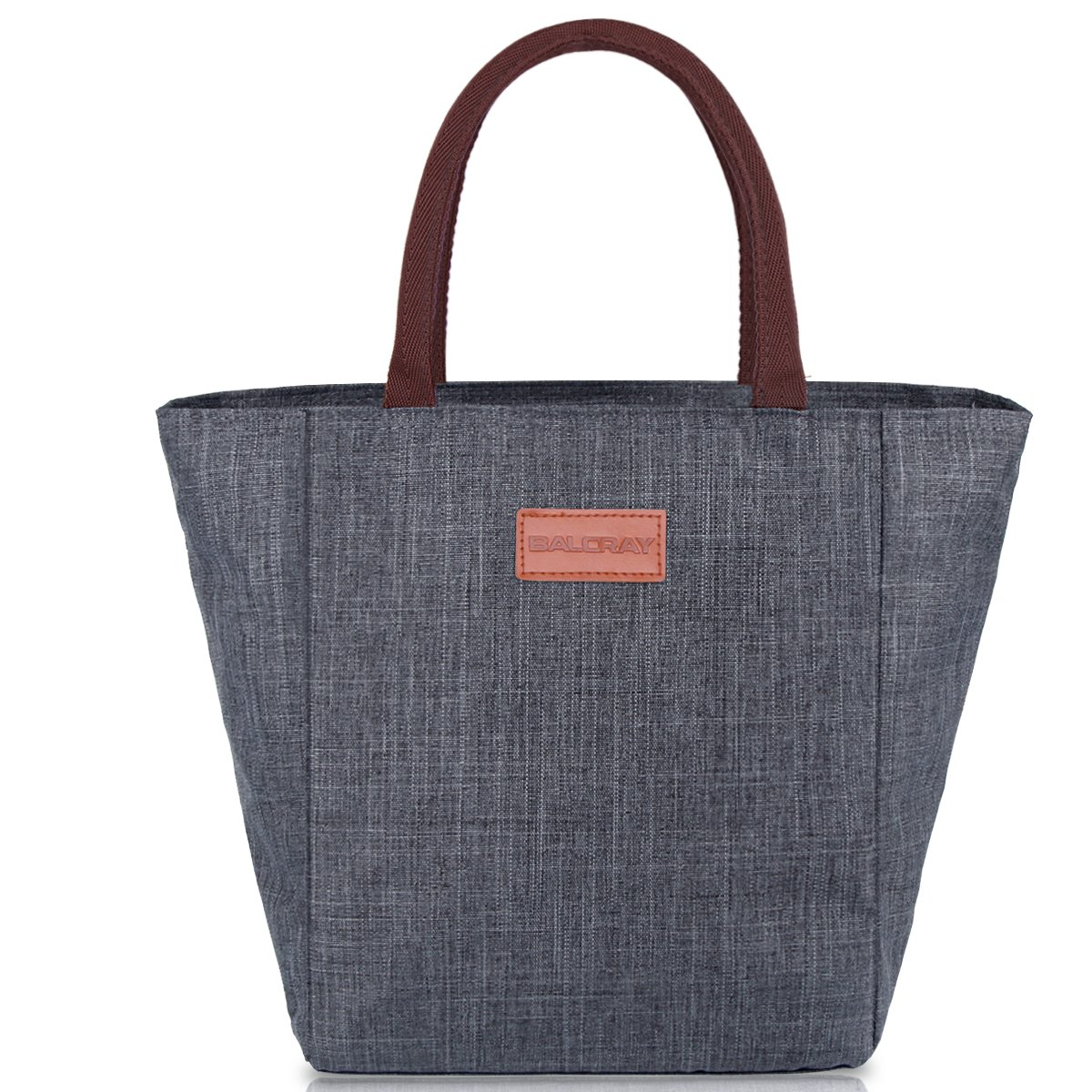 BALORAY Lunch Bag Tote Bag Lunch Organizer Lunch Holder Lunch Container (G-199L Grey) A-15