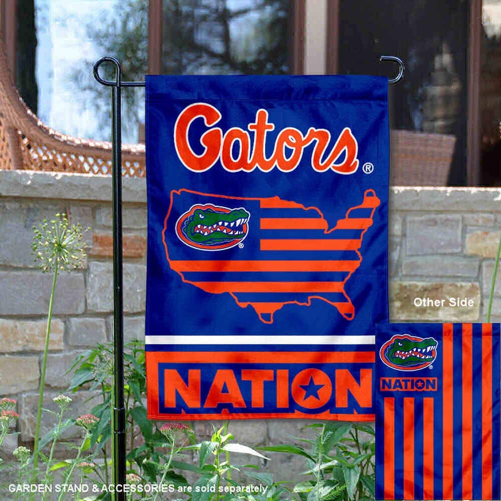 College Flags /& Banners Co Florida Gators Garden Flag with USA Stars and Stripes