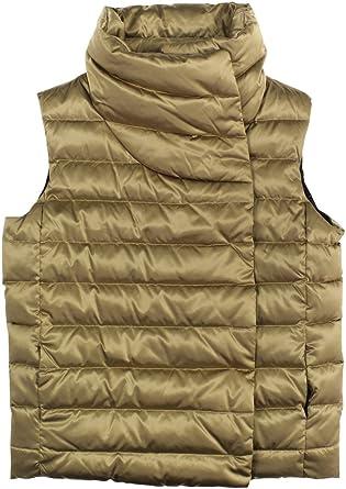 Lauren Ralph Lauren Women\u0027s Funnel-Neck Solid Down Vest Medium Gold