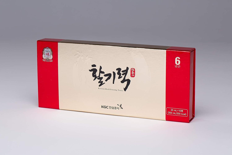 KGC Cheong Kwan Jang Hwal Gi Ruk Korean Red Ginseng Vital Tonic for Wellness Recovery – 10 Bottles