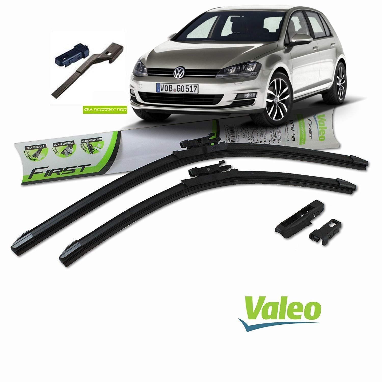 Valeo Juego de 2 escobillas de limpiaparabrisas Especiales para VWGolf 7 Dim. 650/450 mm: Amazon.es: Coche y moto