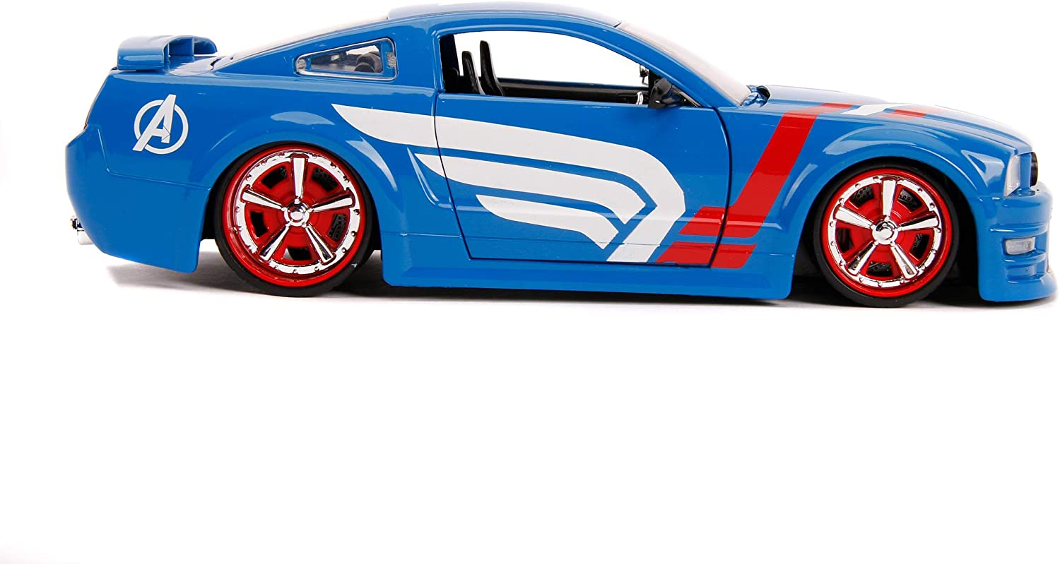 Marvel 253225007 Captain America 2006 Ford Mustang GT Die-cast Toy Sports Car