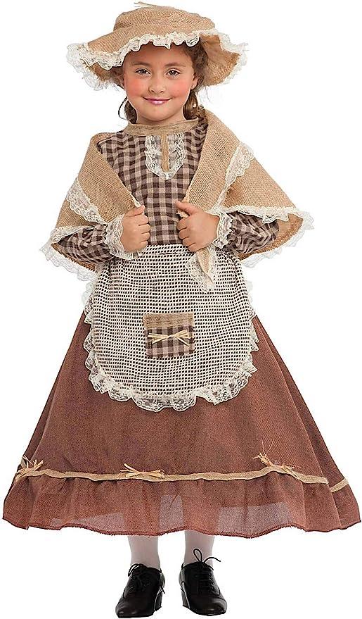 Costume di Carnevale da CONTADINA Vestito per Ragazza Bambina 7-10 Anni  Travestimento Veneziano Halloween c28d0291ebe