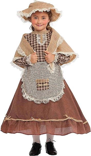 sporco online ultimo sconto accogliente fresco Costume di Carnevale da CONTADINA Baby Vestito per Bambina Ragazza ...