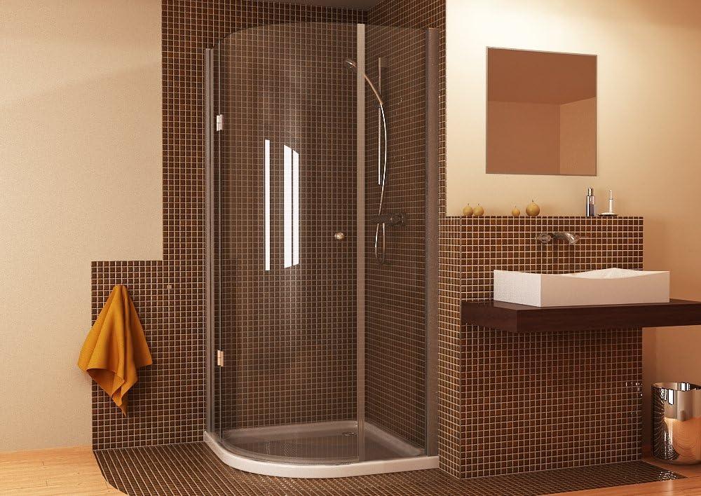 Mampara de ducha redonda ducha cuarto círculo cristal de Deutsche ...