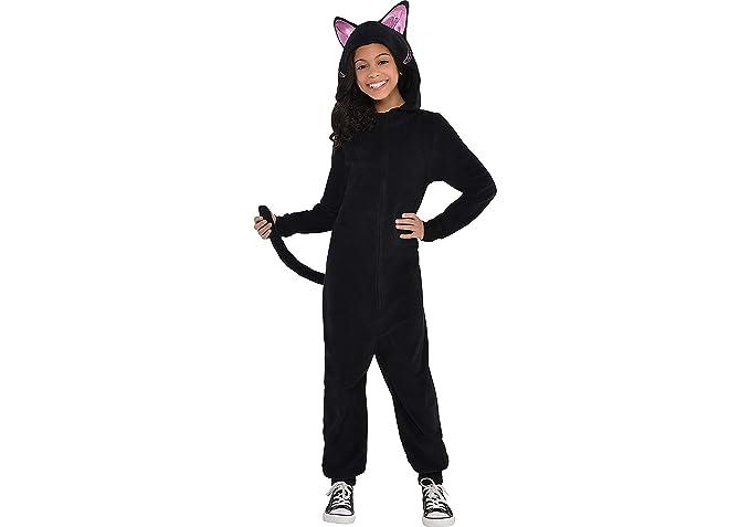 amazon com party city zipster black cat one piece halloween costume