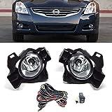 NEW WJ30-0400-09 Clear Lens Fog Light Kit Fits 10-12 Nissan Altima Sedan 4DR