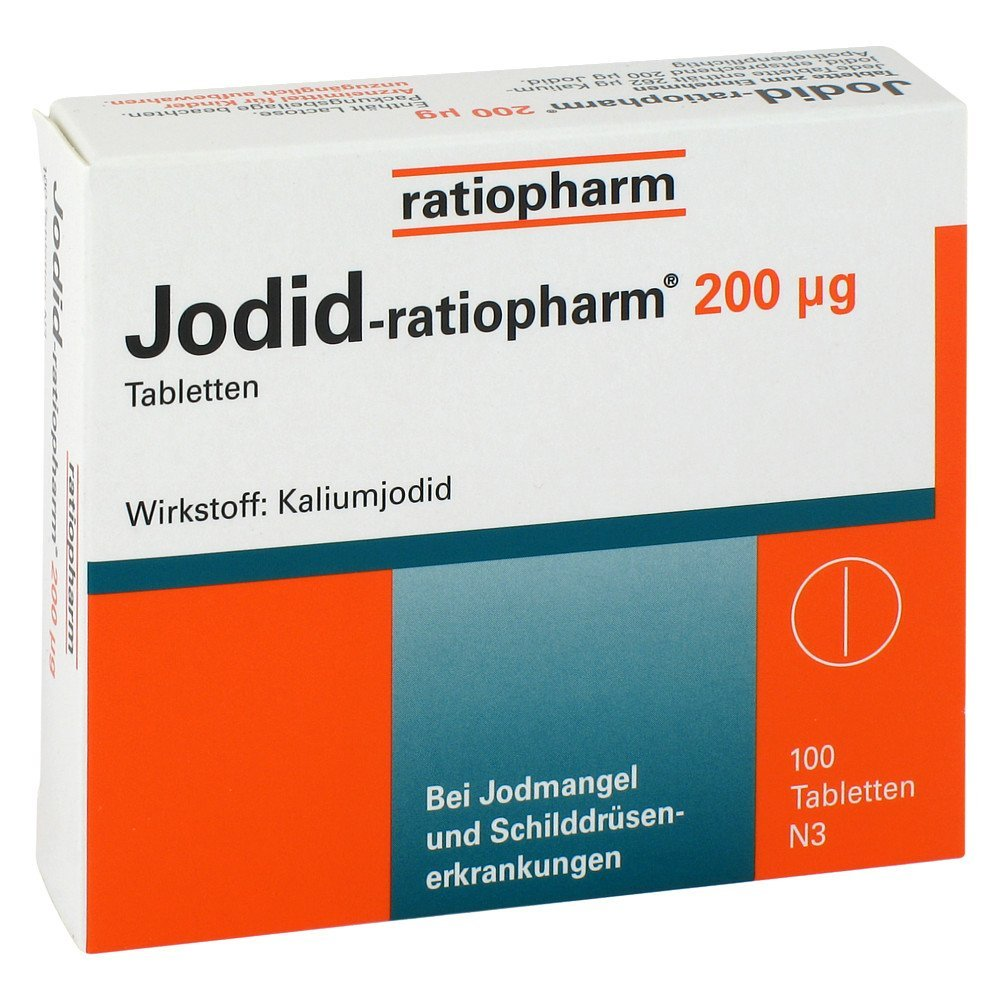 Yoduro ratiopharm 200 [my] G tabletas 100 unidades: Amazon.es: Salud y cuidado personal