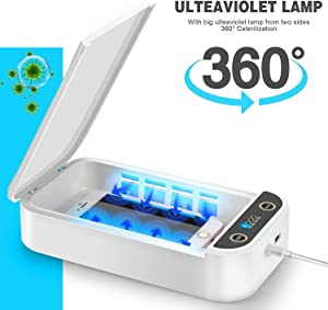 UV Cell Phone soap Sanitizer for iPhone soap Sterilizer,Box Light Aromatherapy Function Disinfector, Phone Cleaner with USB Charging for iOS Android Mobile Phone Toothbrush Pacifier